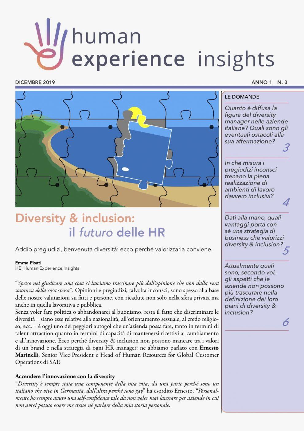 Diversity management – HEI anno 1 n. 3